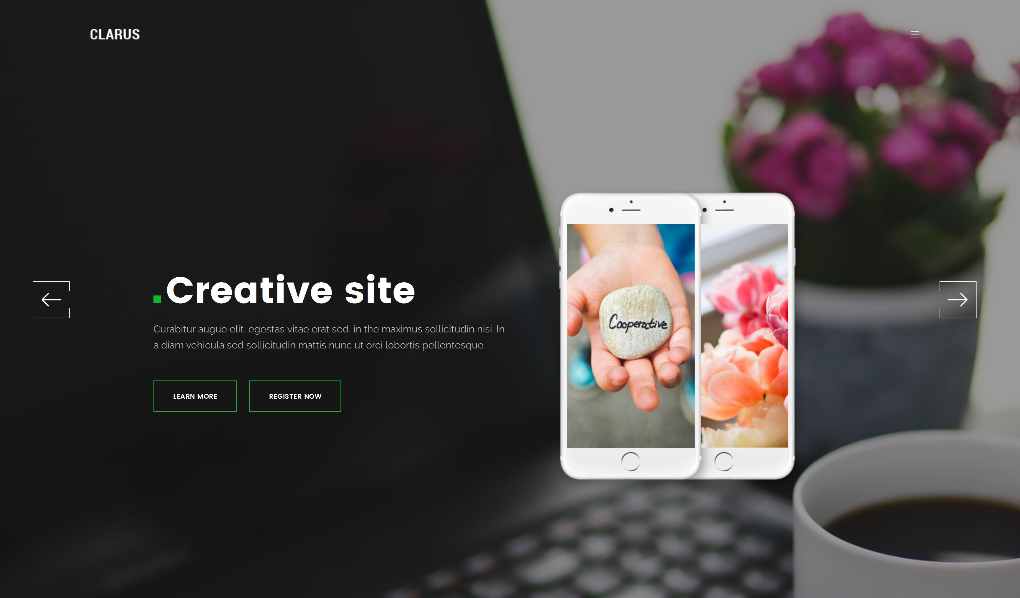 Responsive Bootstrap OnePage Theme