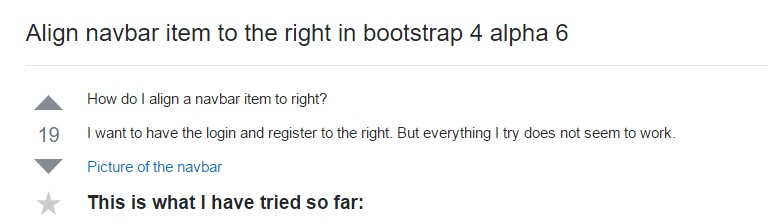 Regulate navbar item to the right  inside Bootstrap 4 alpha 6