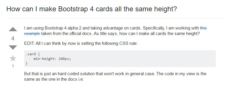 Insights on  just how can we  establish Bootstrap 4 cards just the  identical  height?