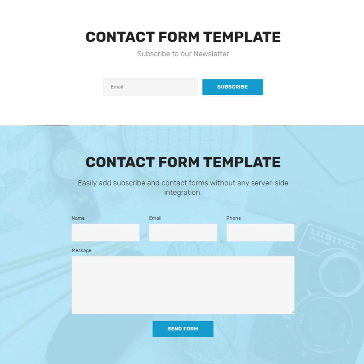CSS3 Bootstrap  contact form  Themes
