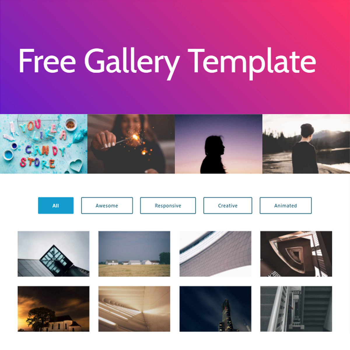HTML Bootstrap  Gallery  Templates