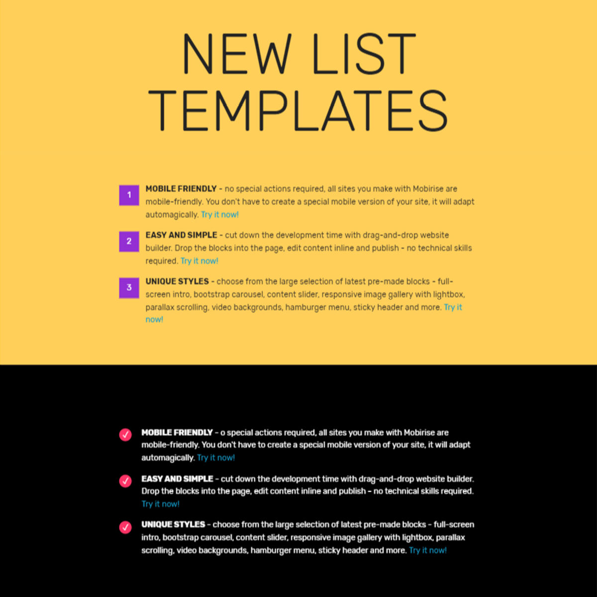 CSS3 Bootstrap  List  Themes