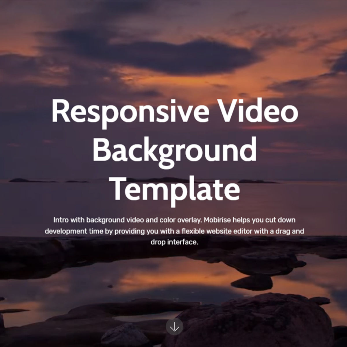 Free Download Bootstrap  Video Background  Templates