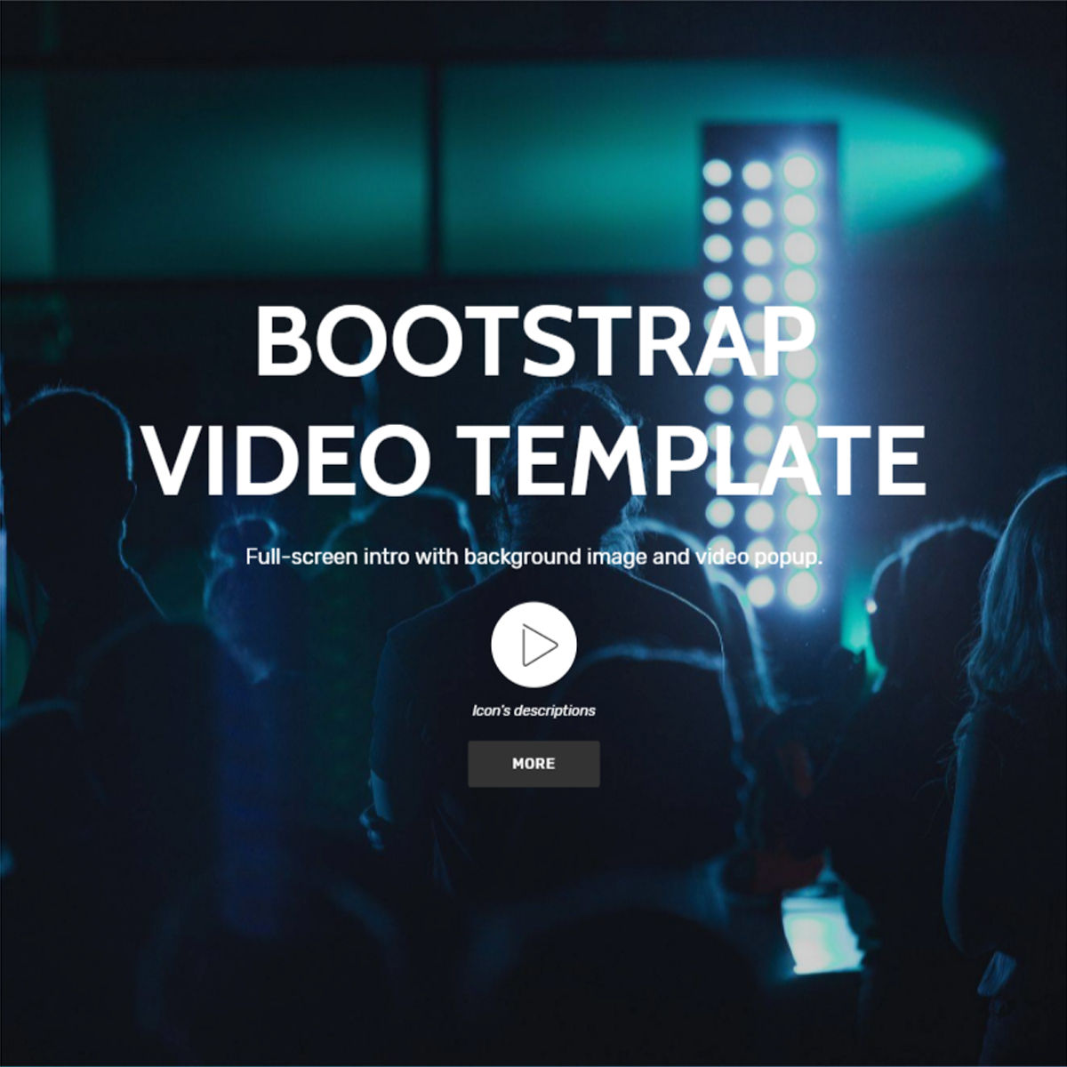 Free Download Bootstrap  Video  Themes