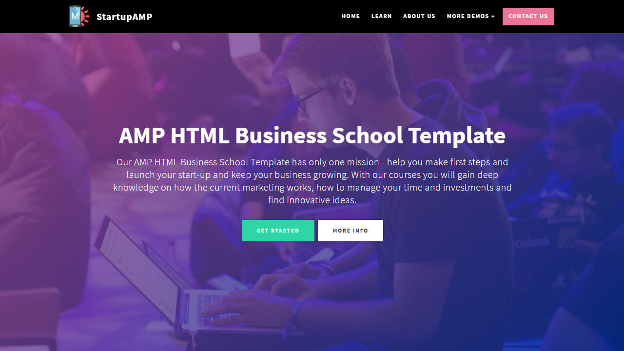 AMP HTML Business School Template