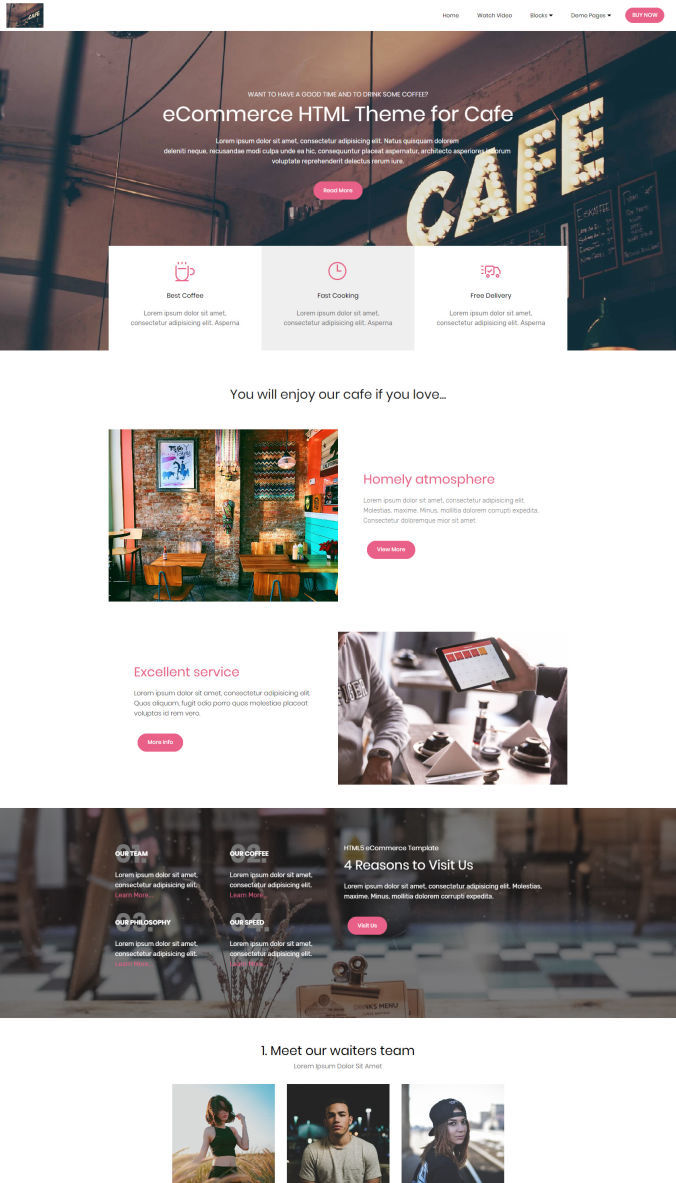 HTML Template for Website