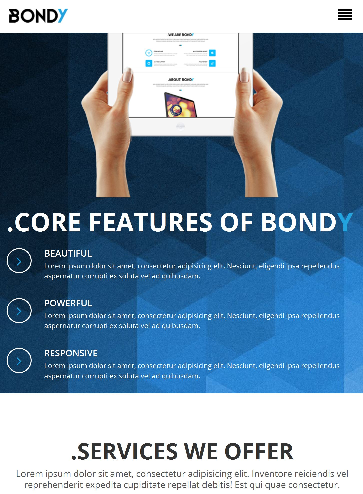 Bootstrap Video Template