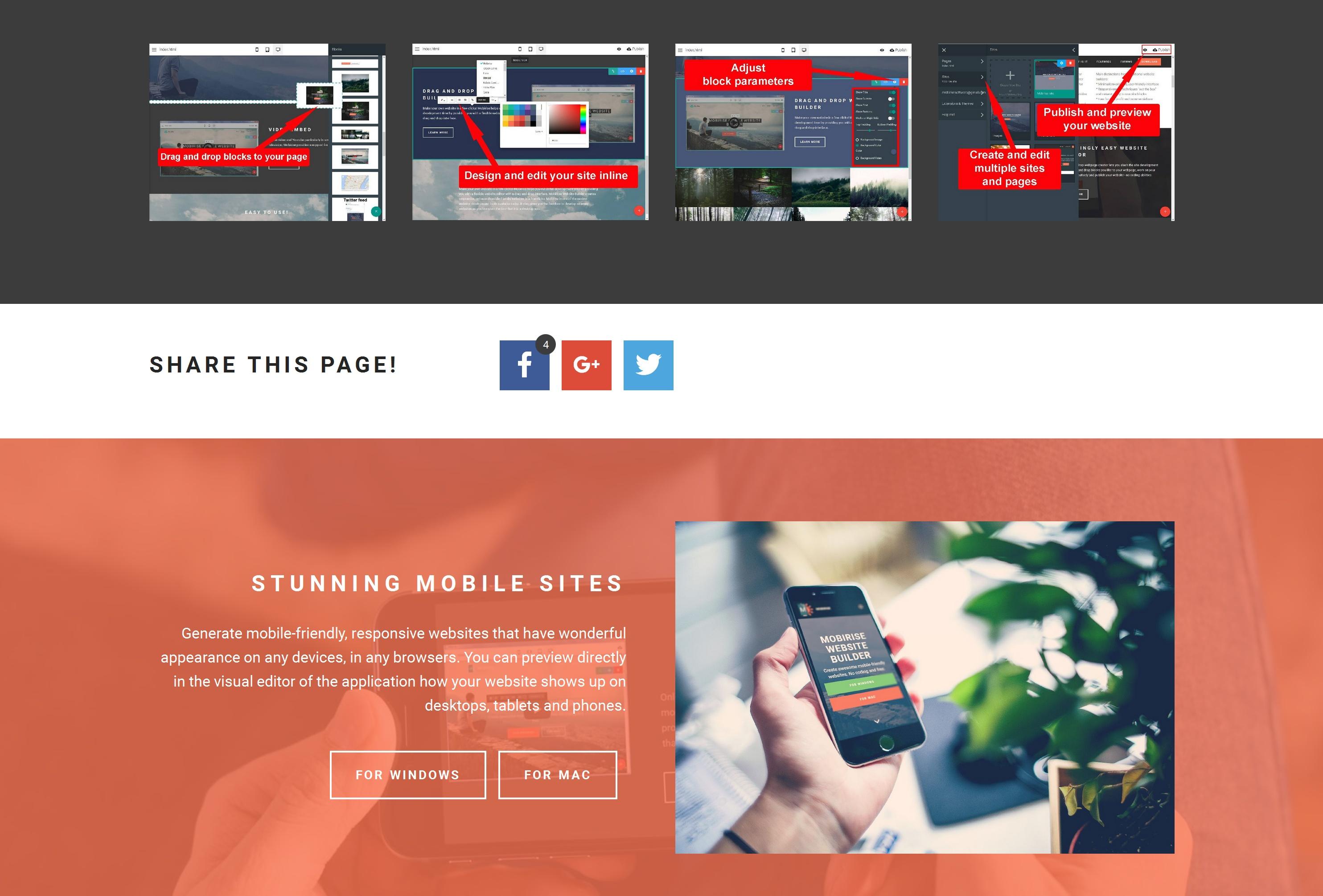 Mobile Easy Website Builder Software