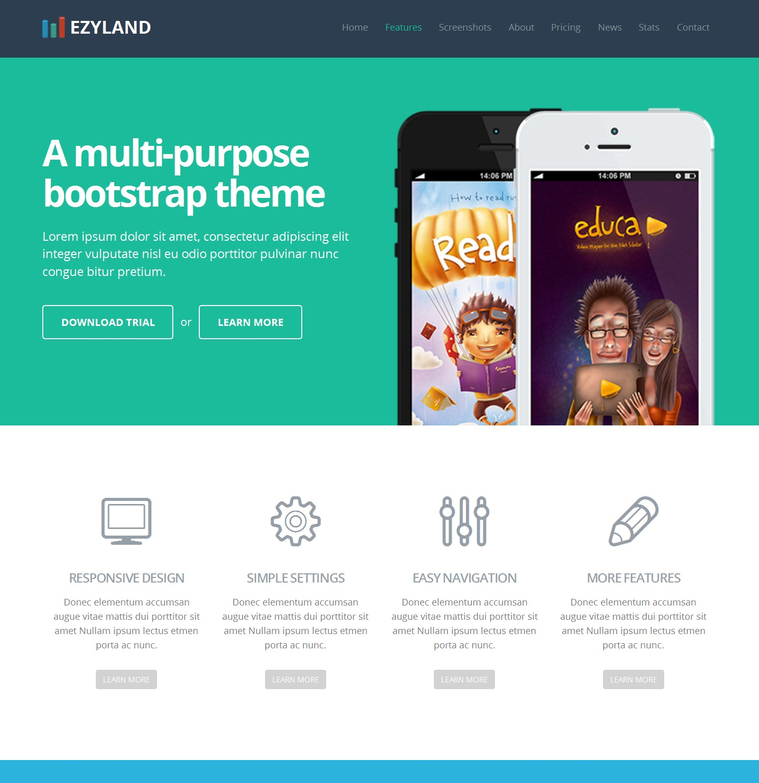 Free Download Bootstrap Basic Theme