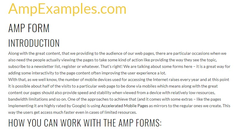 Why don't we  check out AMP project and AMP-form  component?