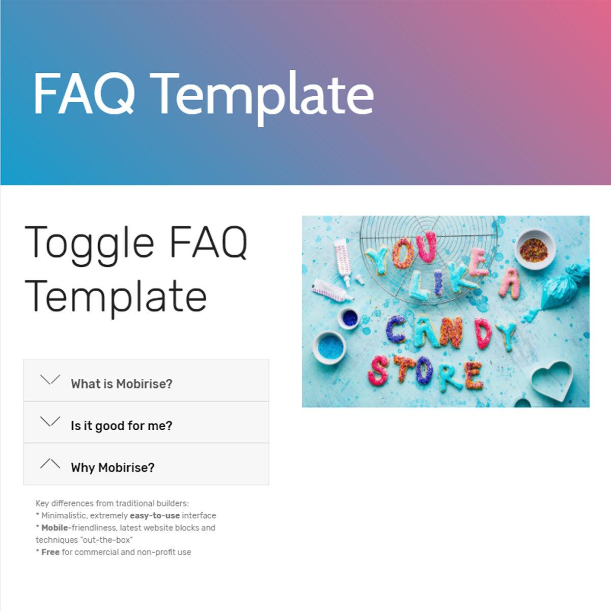 HTML Bootstrap  FAQ  Templates