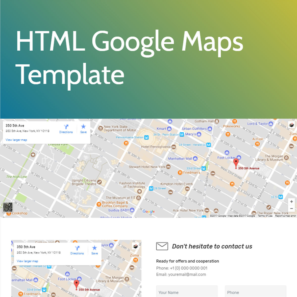 Free Download Bootstrap  google maps  Templates