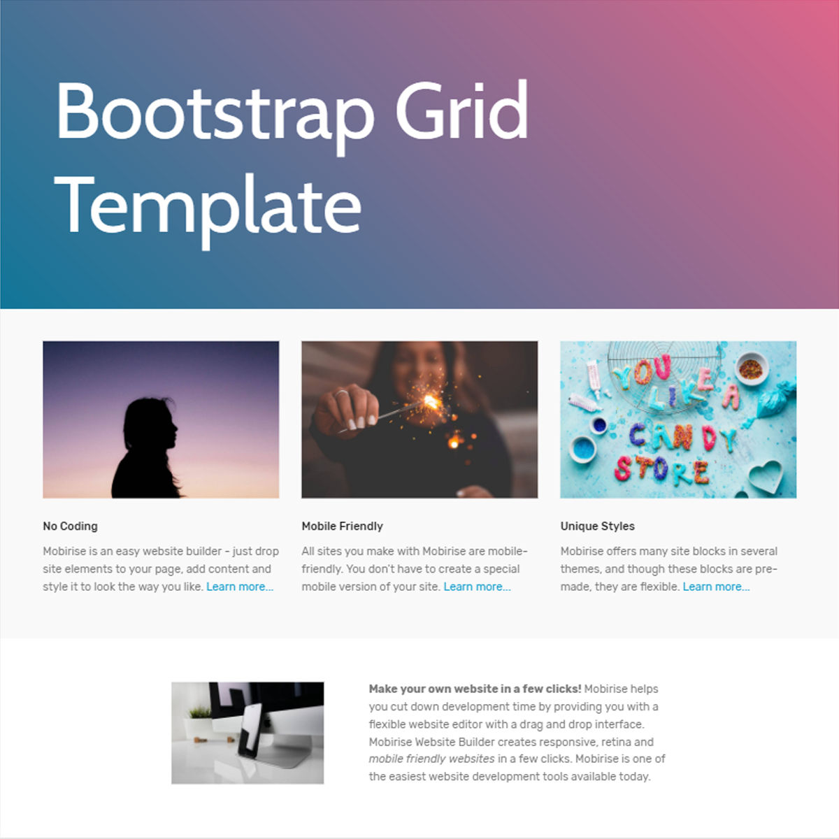 CSS3 Bootstrap  Grid  Themes