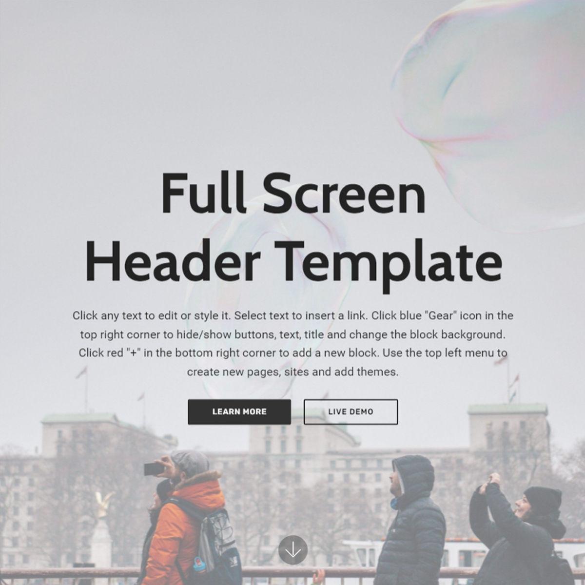 HTML Bootstrap  Header  Templates