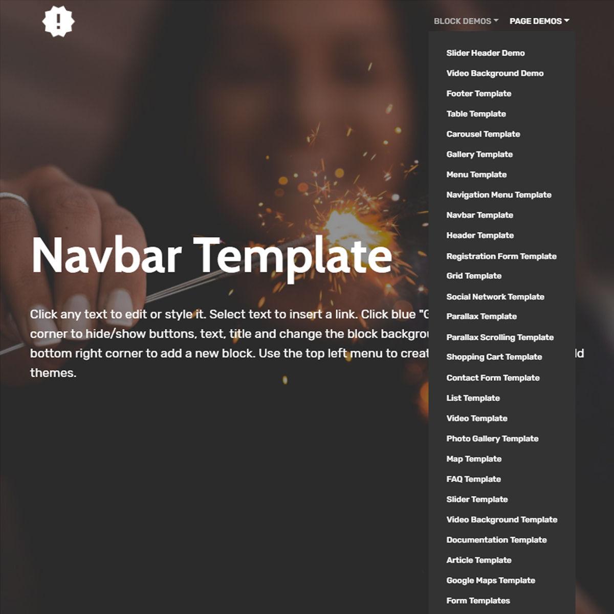CSS3 Bootstrap  Navbar  Templates