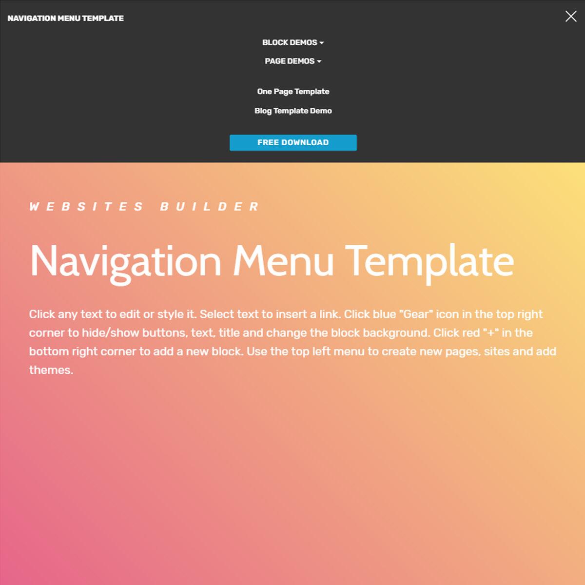 HTML Bootstrap  navigation menu  Themes