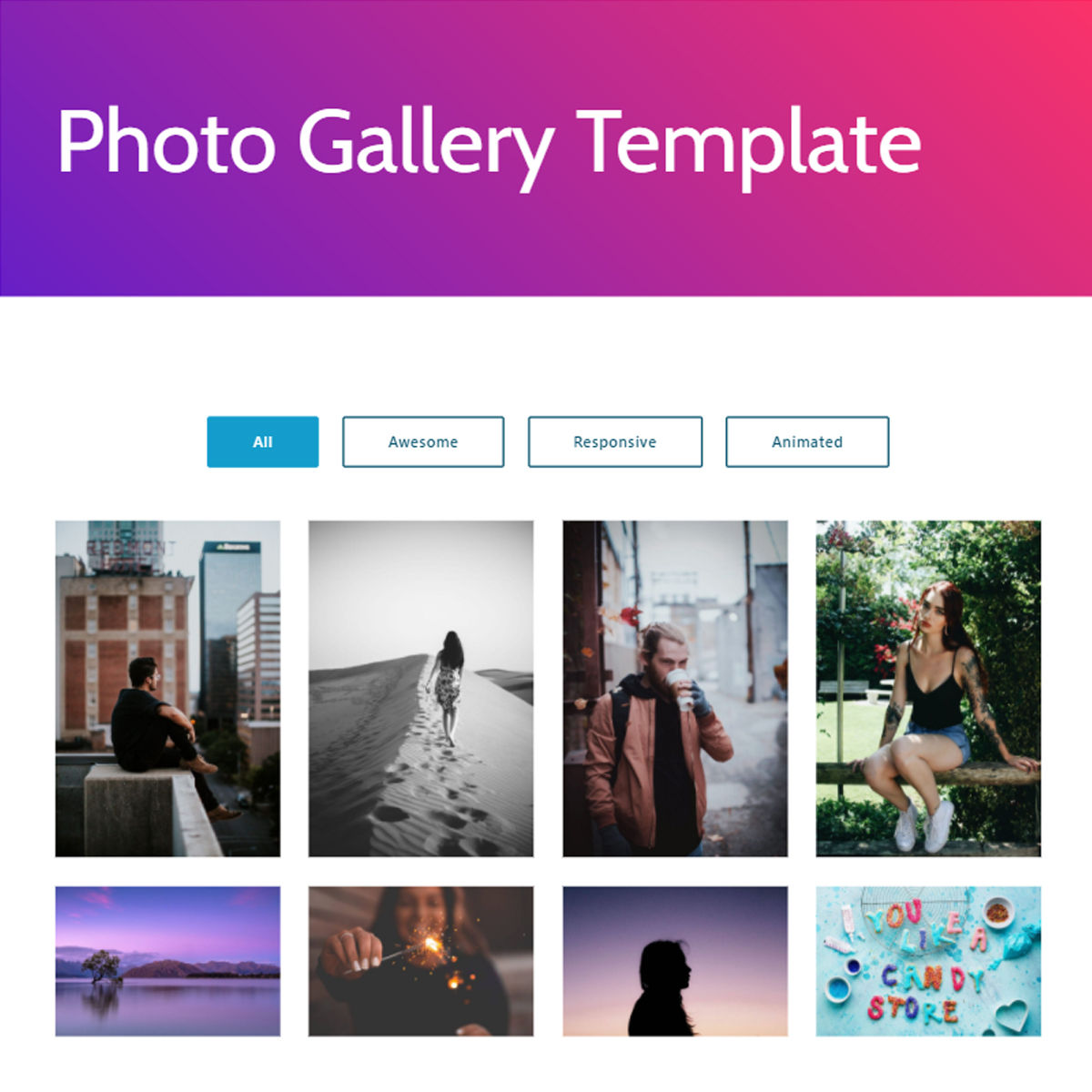 Free Bootstrap  photo gallery  Templates