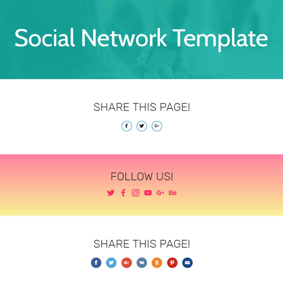 HTML5 Bootstrap  Social Network  Templates