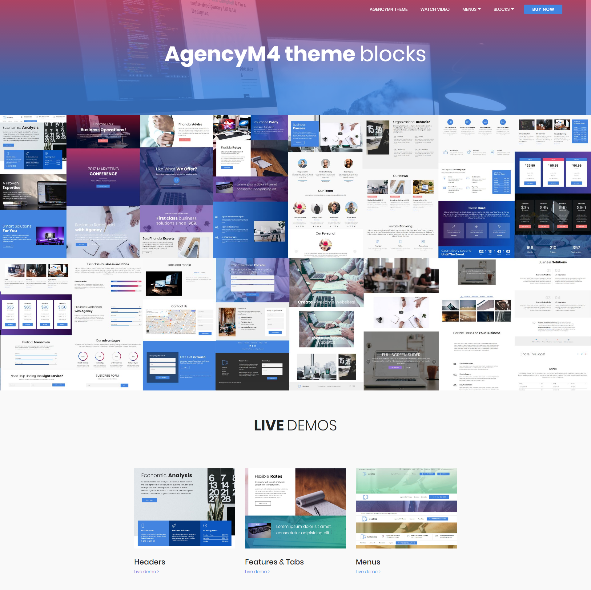 Responsive Bootstrap AgencyM4 Templates