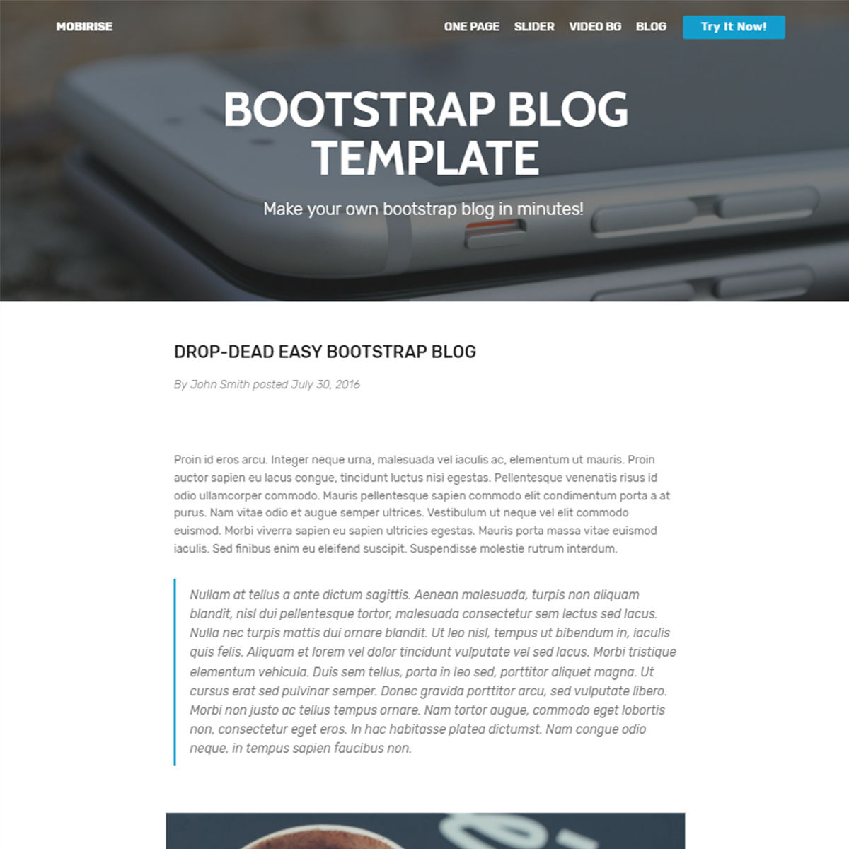 Responsive Bootstrap Blog Templates