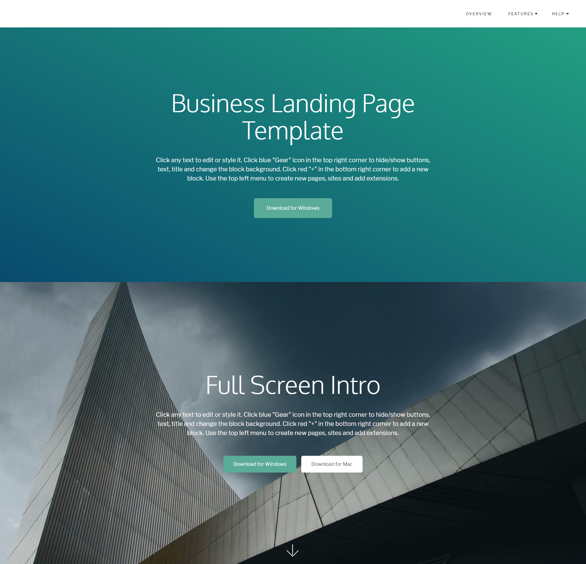 CSS3 Bootstrap Business Landing Page Templates