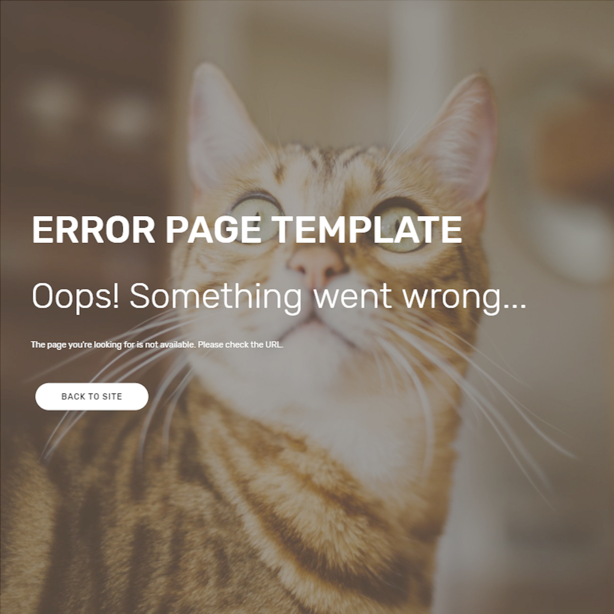 HTML5 Bootstrap Error Page Themes