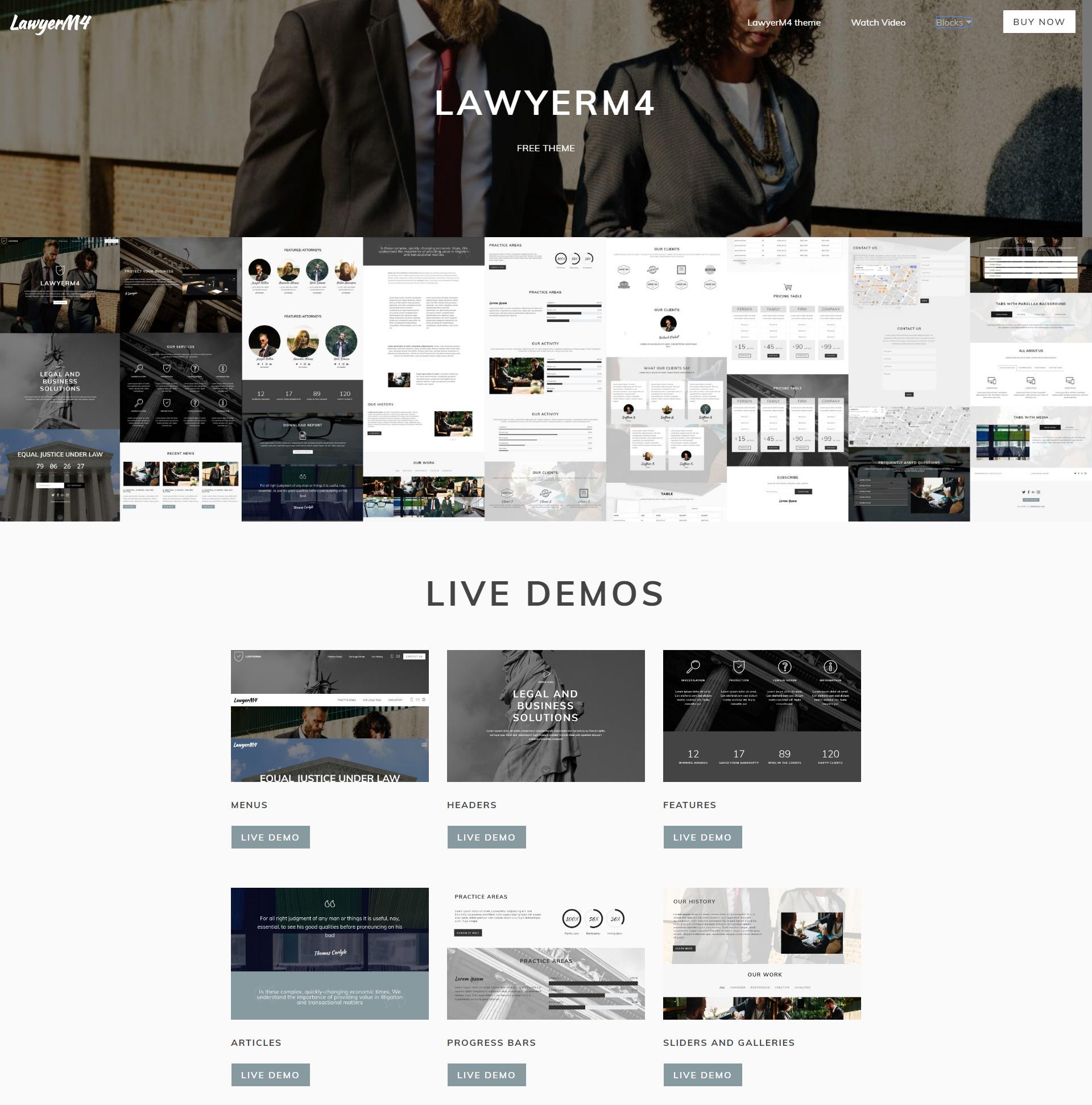 HTML Bootstrap LawyerM4 Templates