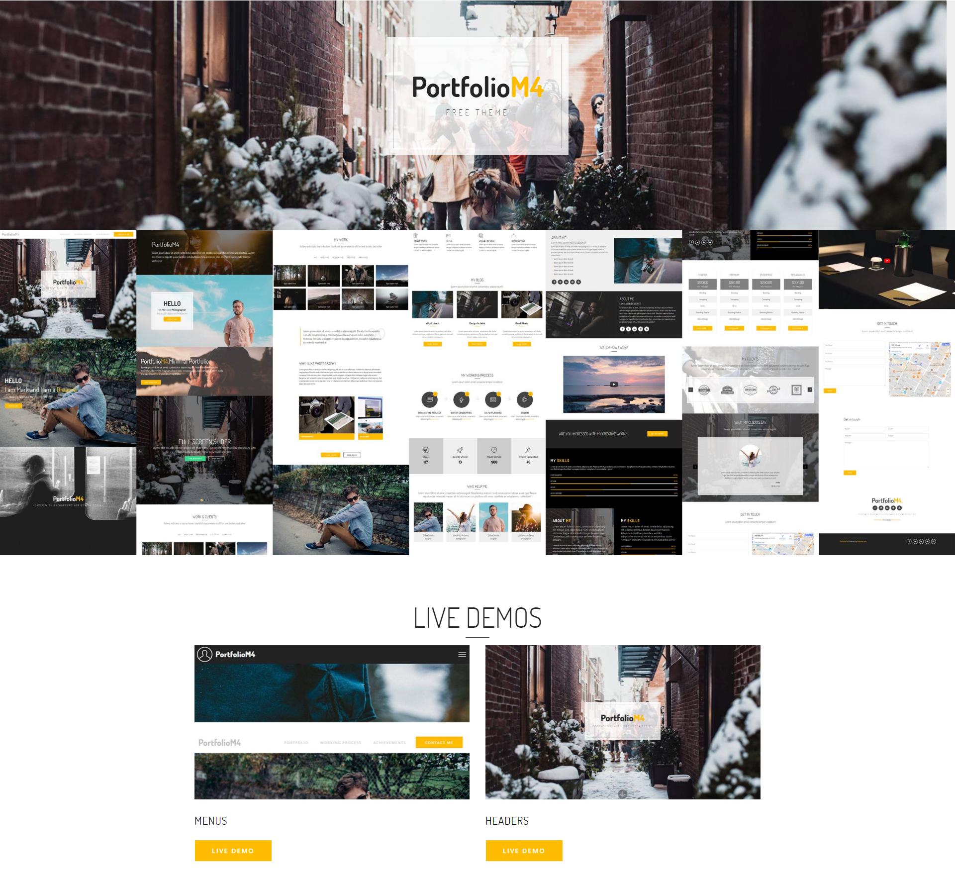 CSS3 Bootstrap PortfolioM4 Themes