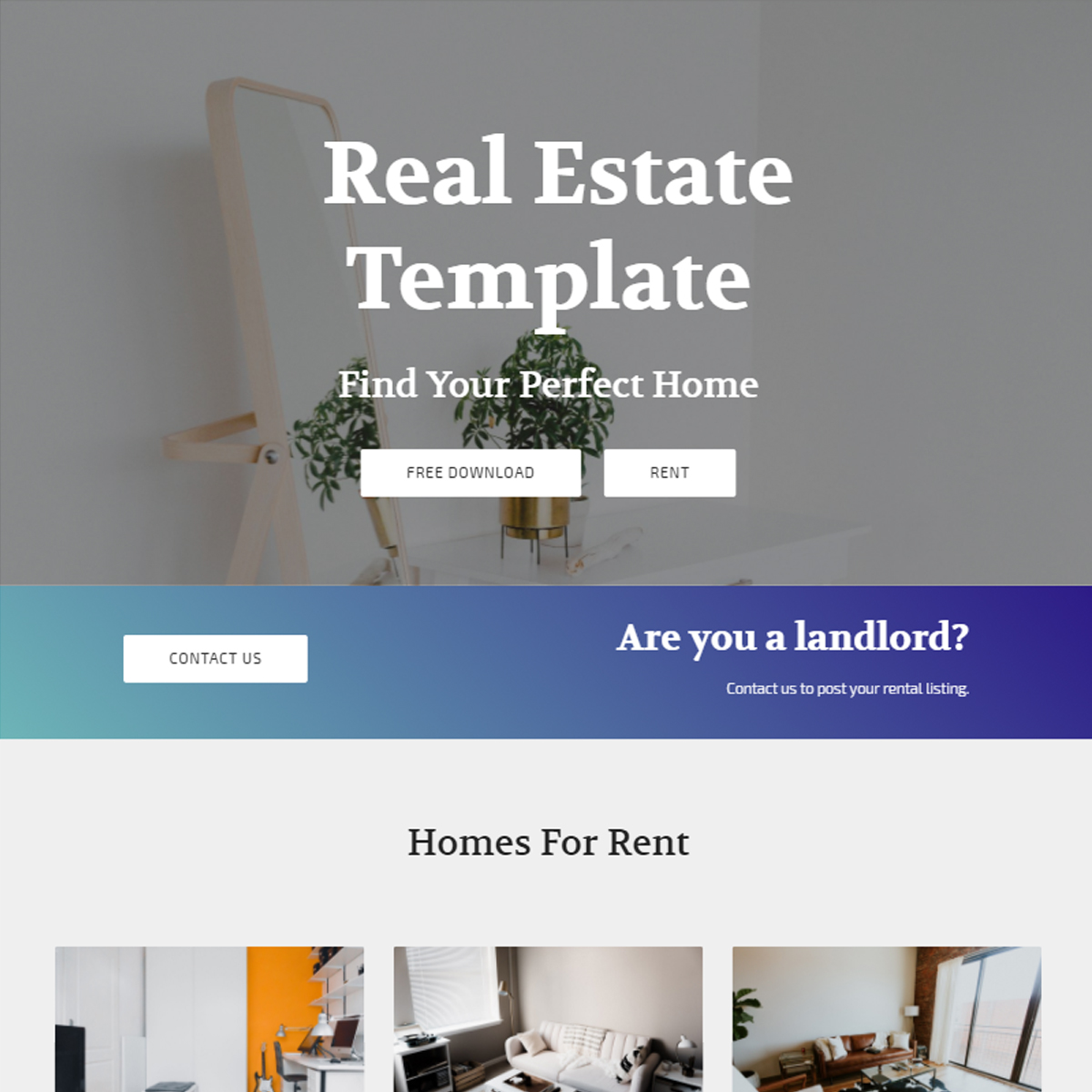 Free Download Bootstrap Real Estate Templates