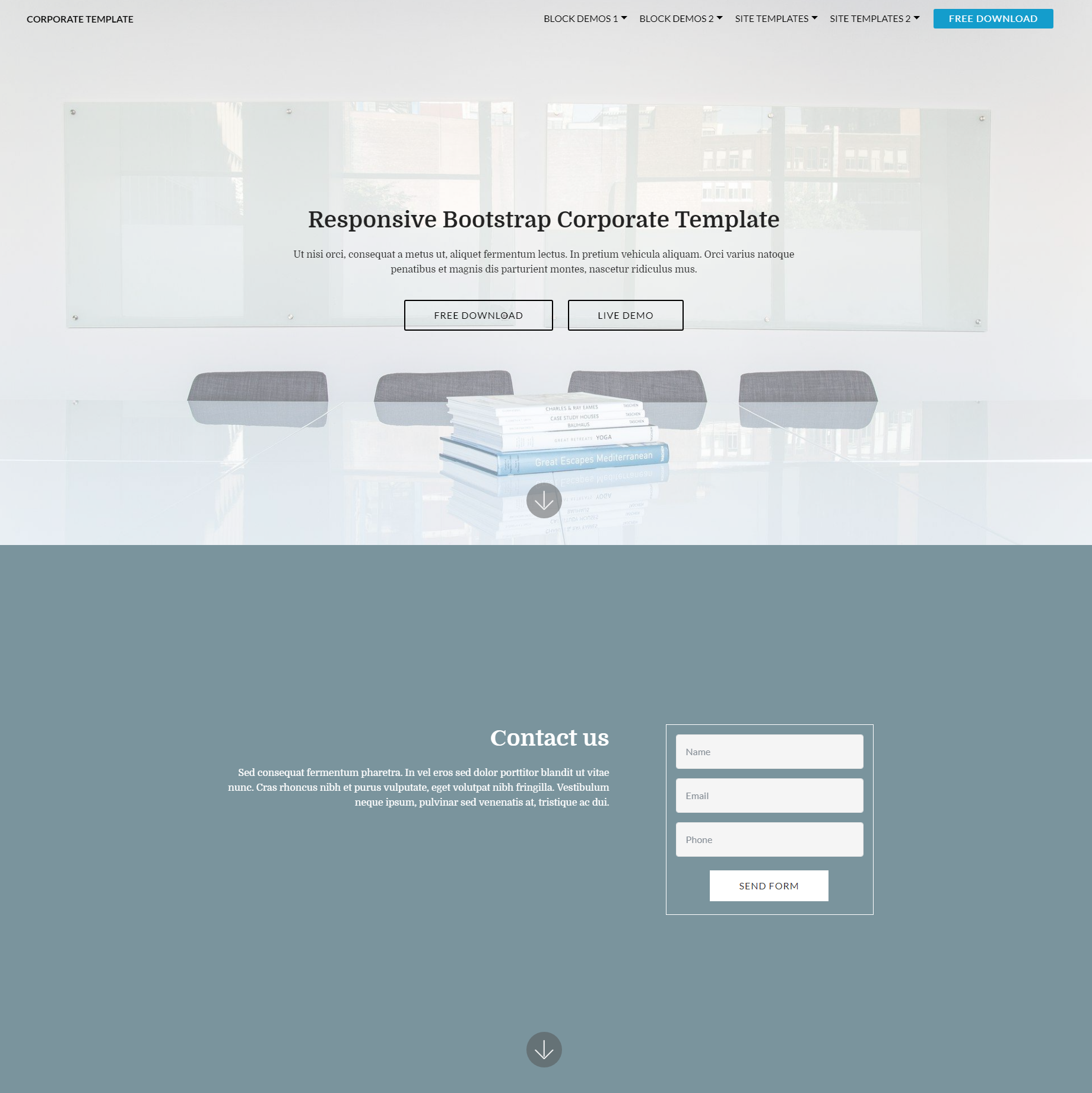 Free Bootstrap Corporate Templates