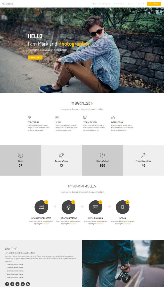 Responsive Template for Website