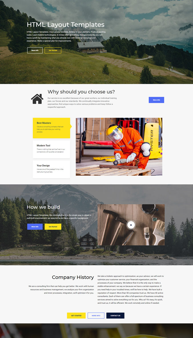 Wonderful Template for Website